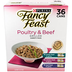 Fancy Feast Grilled Variety Pack, Poultry & Beef (3 oz., 36 pk.)