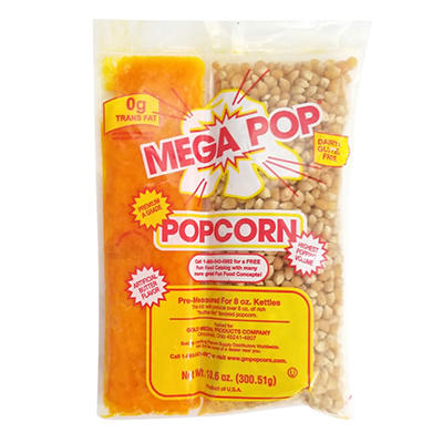 Mega-Pop Popcorn Kit - 8 oz. - 24 ct.