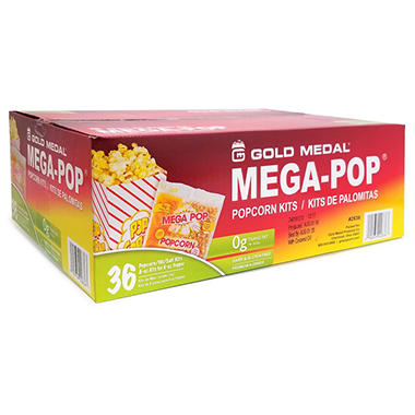 Mega-Pop Popcorn Kit - 6 oz. - 36 ct.