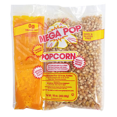 Mega-Pop Popcorn Kit - 12-oz. - 24 ct.