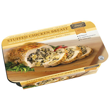 HomeTown Cuisine Gourmet Spinach, Artichoke & Cheese Stuffed Chicken Breast