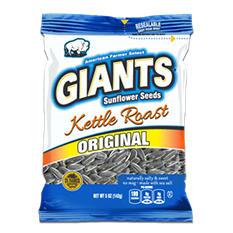 Giants Sunflower Seeds, Kettle Roast (5 oz. bag, 12 ct.)