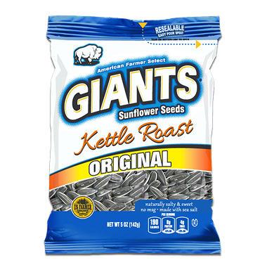 giants sunflower seeds kettle roast 5 oz bag 12 ct