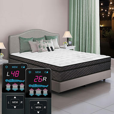 Dual Digital Sleep 6 Ultra Pillowtop Air Bed-Qn