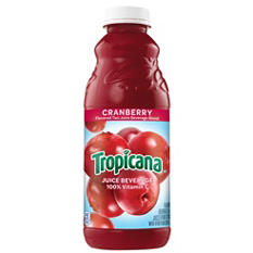 Tropicana Cranberry Cocktail - 32 oz. bottles - 12 pk.