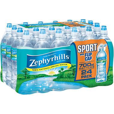 Zephyrhills Bottled Water Sport Flip Cap - 700 ml. - 24 ct.