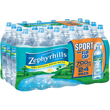 Zephyrhills Bottled Water Sport Flip Cap - 700 ml. - 24 ct.