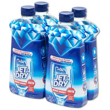 Finish Jet-Dry Rinse Agent - 27.5 oz. - 4 pk. bundle
