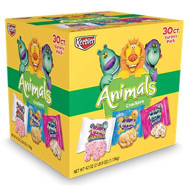 Keebler Animal Crackers, Variety Pack 30 ct. - 42 oz.