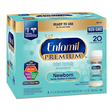 Enfamil Newborn Formula Ready to Use 2 oz. Bottles, 12 oz. 4 pk.
