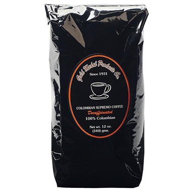 Gold Medal® Bulk Decaffeinated Colombian Supremo Coffee - 12 pk.