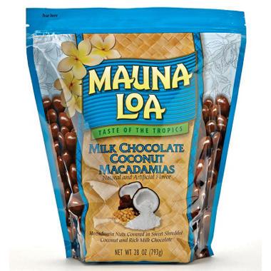 $2.25 off MAUNA LOA Milk Chocolate Coconut Macadamia Nuts