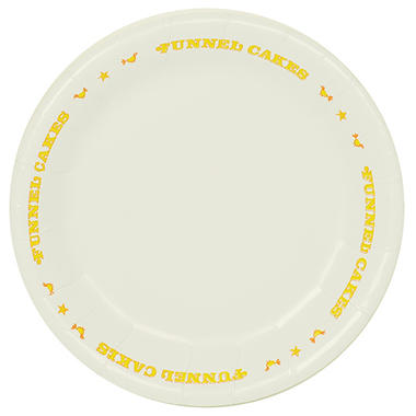"Funnel Cake Plate - 9"" - 500 ct."