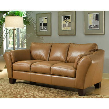 Loft Leather Sofa - Beige / Butterscotch