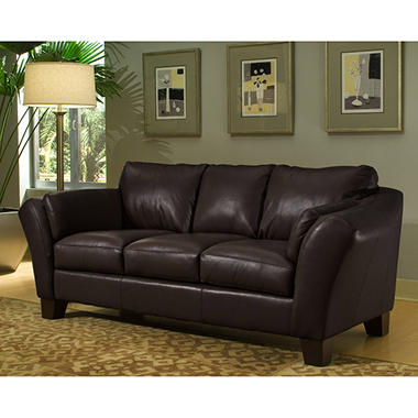 Loft Leather Sofa - Brown