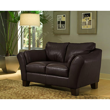 Loft Leather Loveseat - Brown