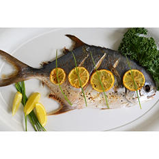Tampa Bay Fresh Whole Pompano (5 lb. box)