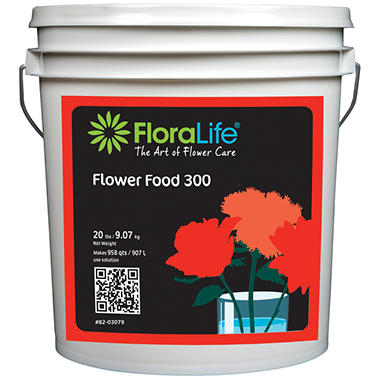 Floralife Flower Food Powder - 20 lbs. - 1 Pail