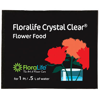 Floralife Crystal Clear Flower Food - 6 ct.