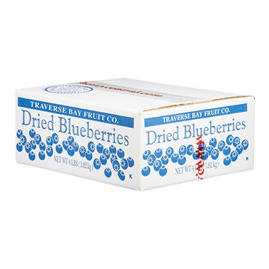 Traverse Bay Dried Blueberries - 4 lb. Box