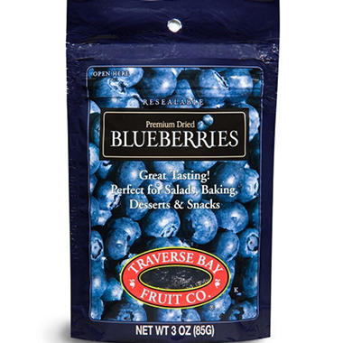 Traverse Bay Dried Blueberries, 3oz (12pk)