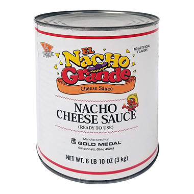 Gold Medal El Nacho Grande Nacho Cheese Sauce - 6 ct. - 6 lbs. 10 oz. each