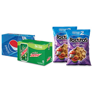 $1.30 off Pepsi® Cans or Choose Any Two Tostitos®