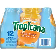 Tropicana 100% Orange Juice - 15.2 oz. bottles - 12 pk.