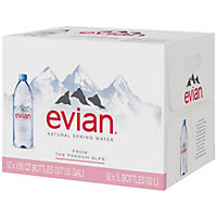 Evian Natural Spring Water (1L, 12 pk.)