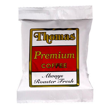 Thomas Coffee Regular Roast Coffee Packs - 64 count