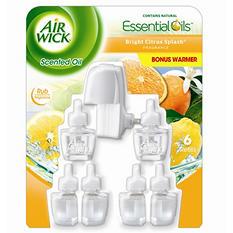 Air Wick Oils, Various Scent (1 Warmer, 6 Refills)