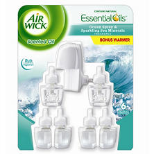 Air Wick Oils, Various Scent (1 Warmer, 6 Refills)