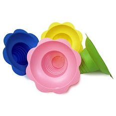 Gold Medal Plastic Flower Sno Cone Cups, 8 oz. (960 ct.)