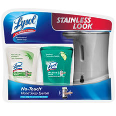 Lysol No-Touch Hand Soap System, Silver Dispenser