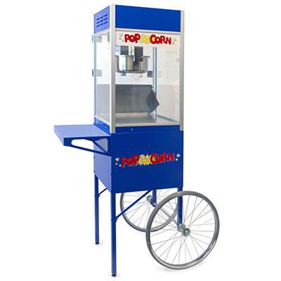 Gold Medal® 2085CLC - 6 oz. Club Popper & Matching Cart