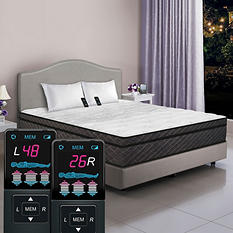 Dual Digital Visions Pillowtop Air Bed