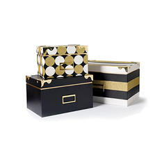 Keepsake Storage Boxes (Black and Gold)