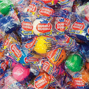 Dubble Bubble Individually Wrapped Gumballs - 850 count