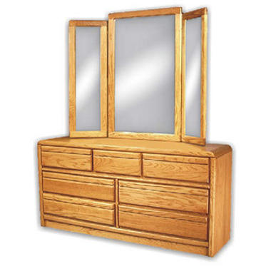 American Sleep Collection Oak Dresser & Mirror