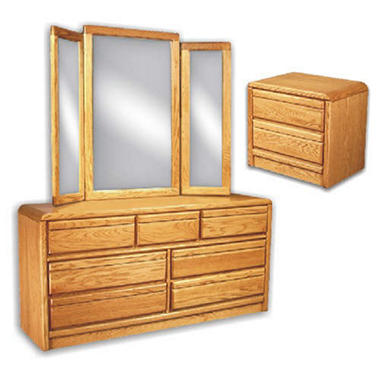 American Sleep Nightstand, Dresser & Mirror.