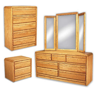 American Sleep Nightstand, Chest, Dresser & Mirror