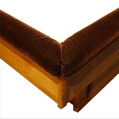 Three-Sided Padded Velour Waterbed Rails - King