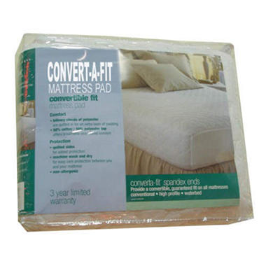 Am. Sleep Convert-A-Fit? Mattress Pad-Super Single
