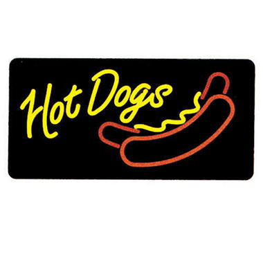 Gold Medal® Lighted Hot Dogs Sign
