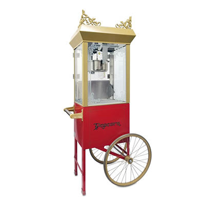 Gold Medal® 2660GTSC Antique Deluxe Popper w/ Red Cart