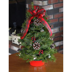 "18"" Decorated Tabletop Christmas Tree"