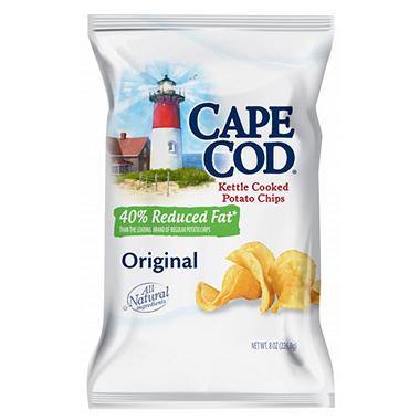 Cape Cod Reduced Fat Potato Chips ( 12 - 8 oz.bags)