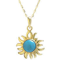 Click here for Turquoise and 14K Yellow Gold Pendant prices