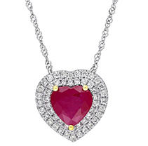 Click here for 1.68 CT. TW. Gemstone Pendant Ruby 14K White Gold prices