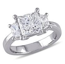 Click here for Allura 2.56 CT Princess Cut Diamond 3-Stone Engage... prices